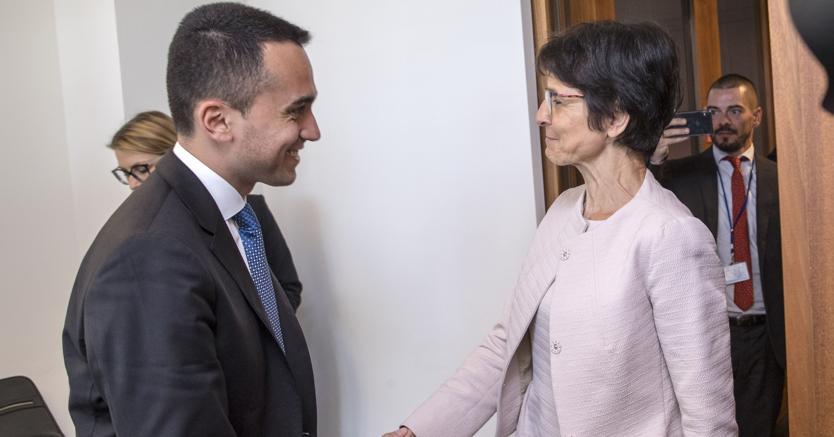Luigi Di Maio  e   Marianne Thyssen (Imagoeconomica)