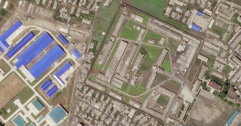 Una fabbrica per la produzione di missili nella città di Hamhung, in una foto scattata da un satellite lo scorso giugno (Reuters)