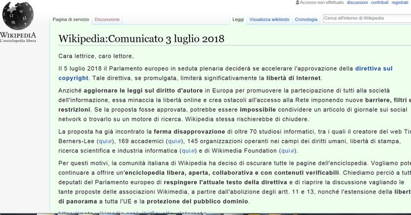 Wikipedia perch oggi non funziona in italiano e contro for Il parlamento italiano wikipedia