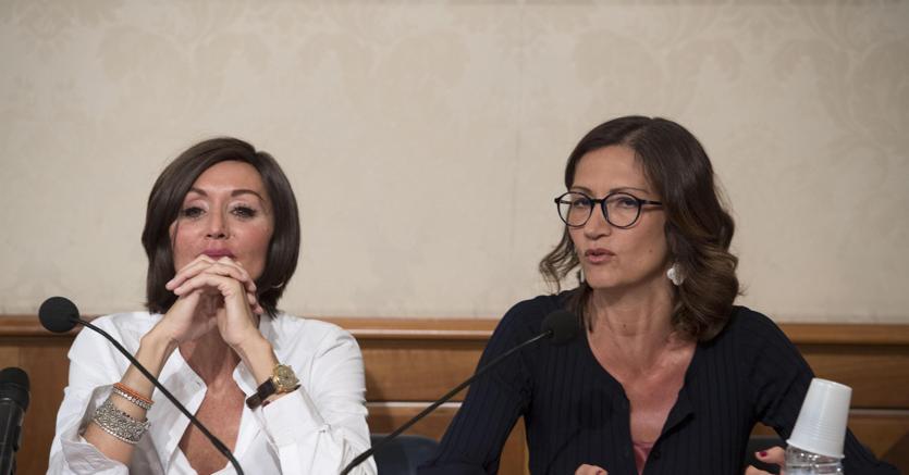 Le capogruppo Fi  Anna Maria Bernini e Mariastella Gelmini hanno presentato la proposta di reintroduzione dei voucher (Ansa)