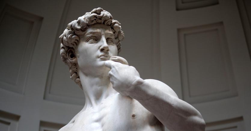 Genio e fatica.Michelangelo (in foto, il David) sarà protagonista della prima delle grandi imprese, dedicata alla realizzazione degli affreschi della Cappella Sistina (Ap)