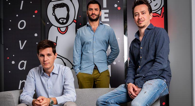I fondatori di Satispay: da sinistra Dario Brignone, Alberto Dalmasso e Samuele Pinta