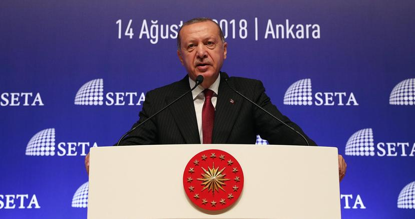 Il presidente turco Recep Tayyp Erdogan (Epa)