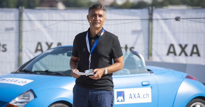 Fabrizio Petrillo, Ceo di Axa Svizzera ai crashtest di Zurigo