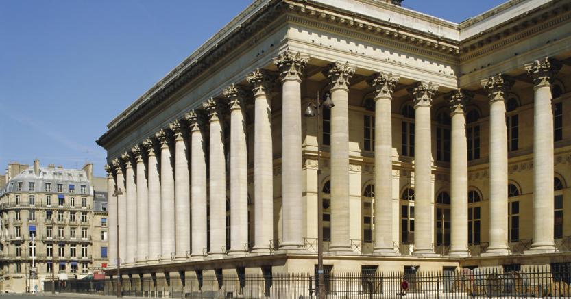 La sede della Borsa di Parigi