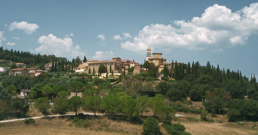 Nella foto Solomeo in provincia di Perugia