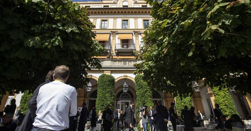 Villa d'Este a Cernobbio (Como) dove è in corso il forum  Ambrosetti