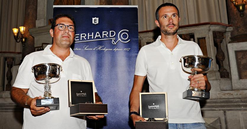 Giovanni Moceri e Daniele Bonetti vincitori del Gran Premio Nuvolari 2018  (foto Roberto Deias per Eberhard)