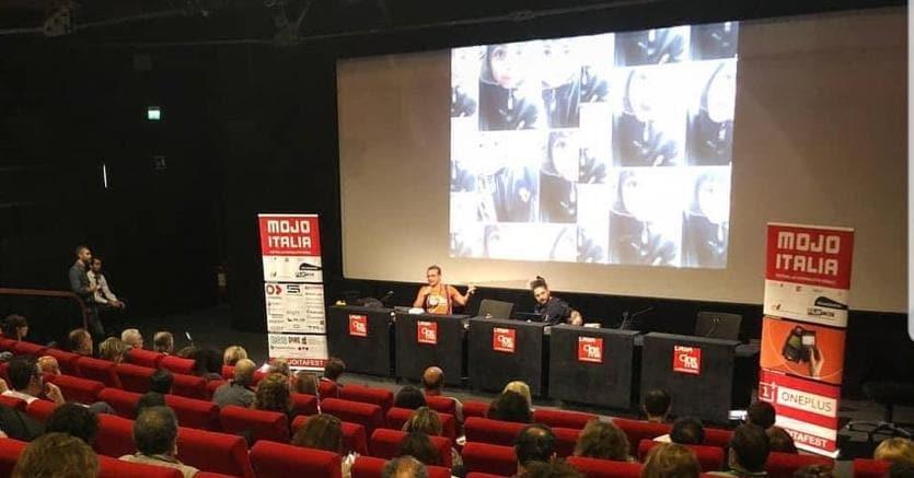 Nico Piro ed Enrico Farro al Mojo Italia Festival alla Casa del cinema di Roma