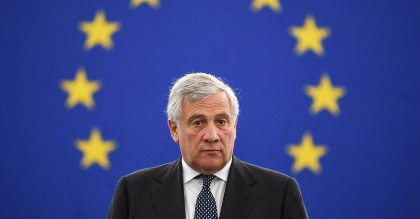 Il presidente dell'Europarlamento Antonio Tajani  (Ansa)