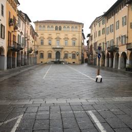 Piazza Piemonte a Biella (Marka)