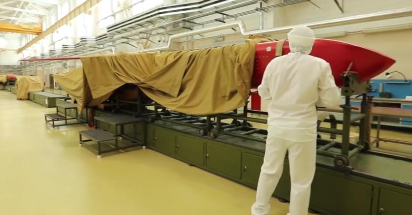 Fase di test di un missile cruise Burevestnik (Afp)