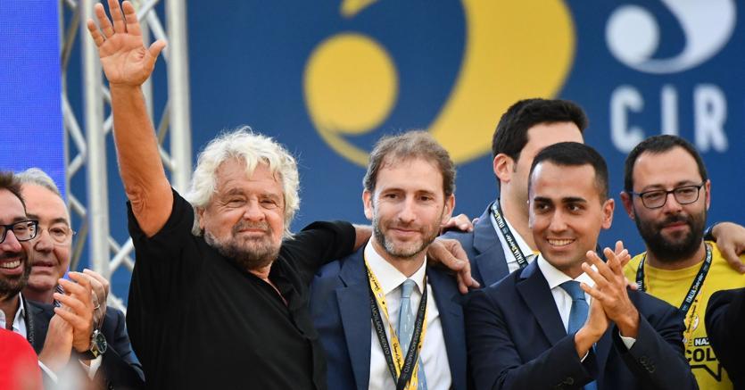 Beppe Grillo, Davide Casaleggio, Luigi Di Maio (Afp)
