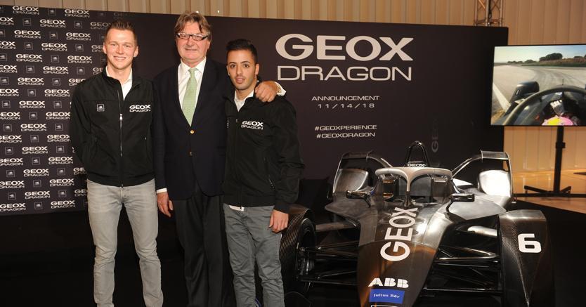 Geox scenderà in pista con il team Dragon nel campionato di Formula ... c0f31650a3e