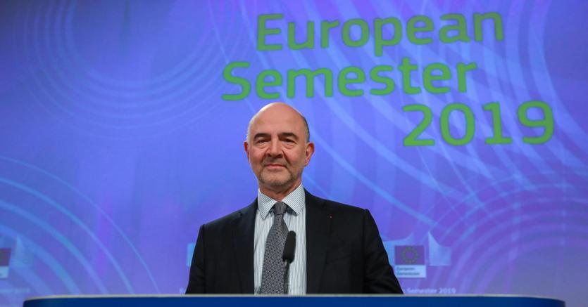 Il commissario Ue agli Affari economici e monetari Pierre Moscovici