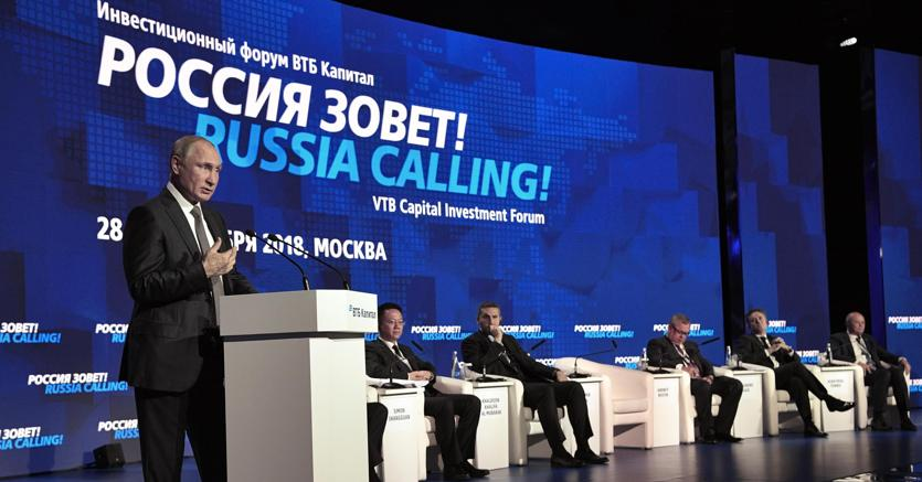 La Russia chiama. L'intervento di Vladimir Putin all'Investment Forum di VTB Capital a Mosca