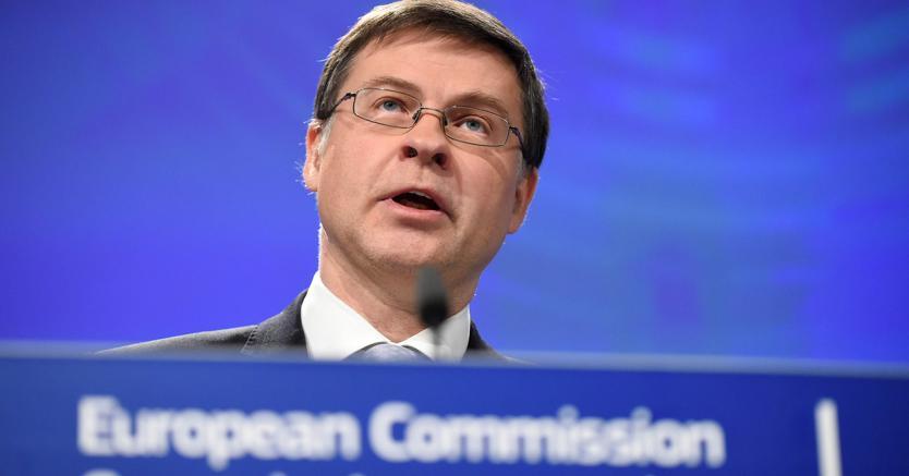 Valdis Dombrovskis, vice presidente della Commissione europea (Afp)