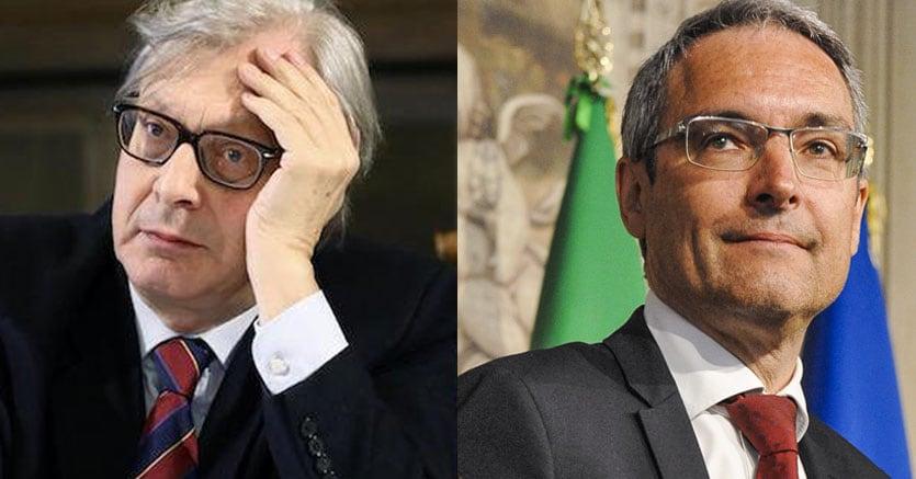 Vittorio Sgarbi e Dieter Steger