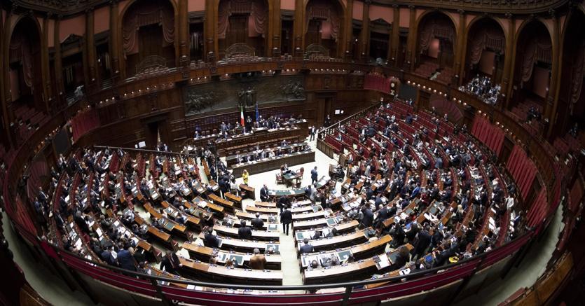 Panorama dell'aula di Montecitorio (Ansa - Maurizio Brambatti)