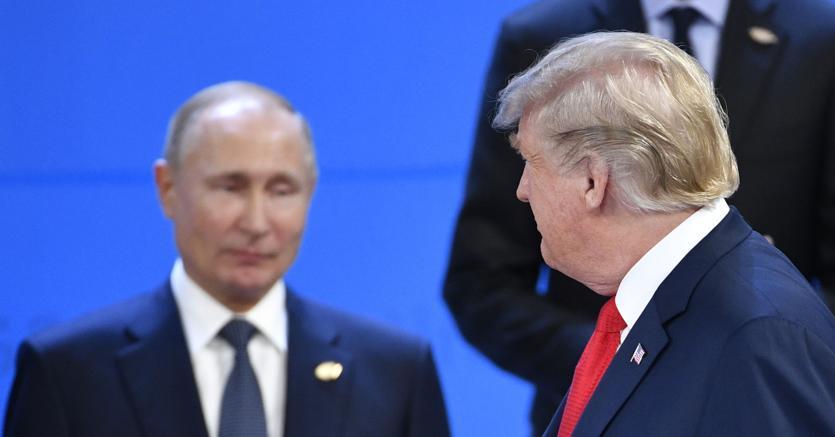 Vladimir Putin e Donald Trump al G-20 in Argentina (Afp)