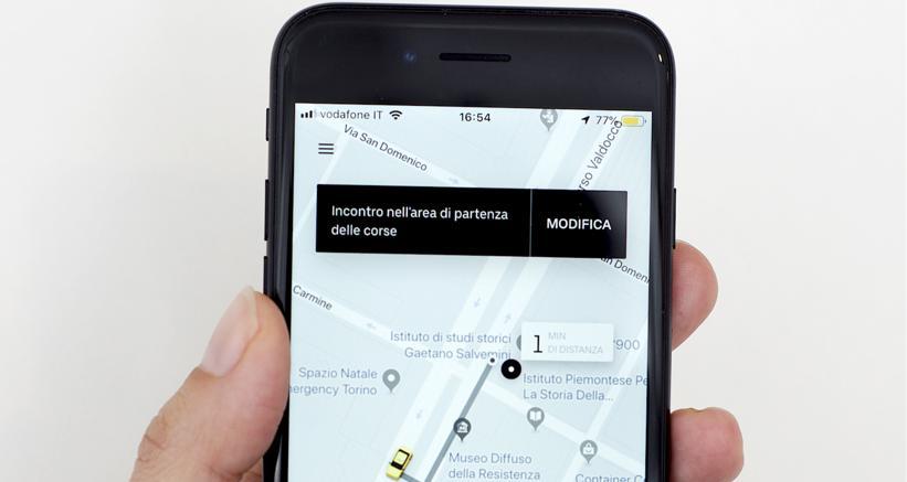 La app UberTaxi