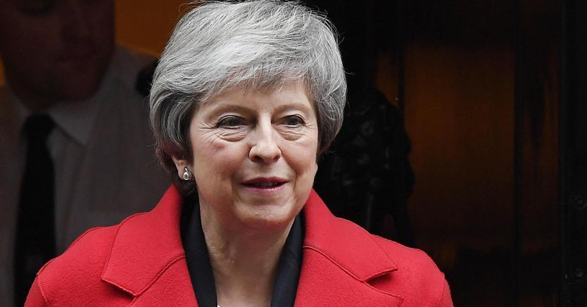 Theresa May, il primo ministro britannico. (EPA/ANDY RAIN)