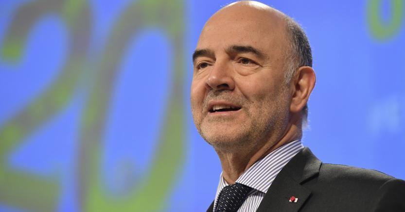 Il commissario europeo all'Economia Piere Moscovici (Ap)