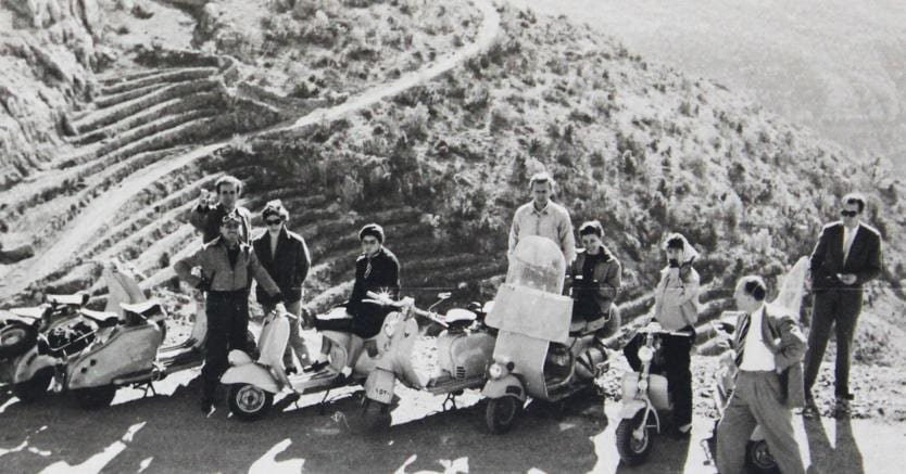 Khalil Khouri_The scooter gang somewhere in Mount Lebanon early 1950's