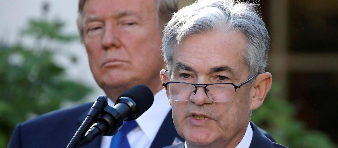 Donald Tump e Jerome Powell (Reuters)