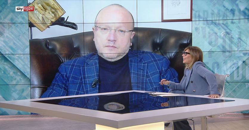 Il presidente di Confindustria, Vincenzo Boccia nell'Intervista a Maria Latella su SkyTg24