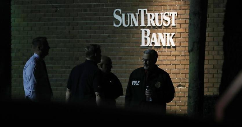 Florida, la banca teatro della sparatoria costata la vita a cinque persone  (Afp)