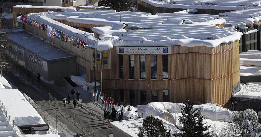 Il centro congressi del World Economic Forum 2019 a Davos (Ap)