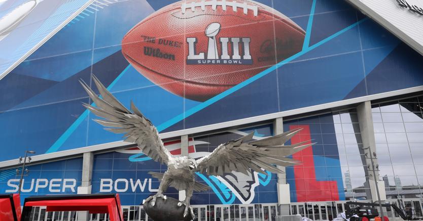 L'ingresso dello stadio di Atlanta che ospiterà il Super Bowl il 3 febbraio (Usa Today)