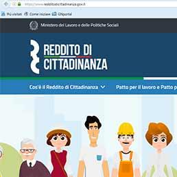 Il portale del reddito di cittadinanza. Dal 6 marzo le richieste anche online