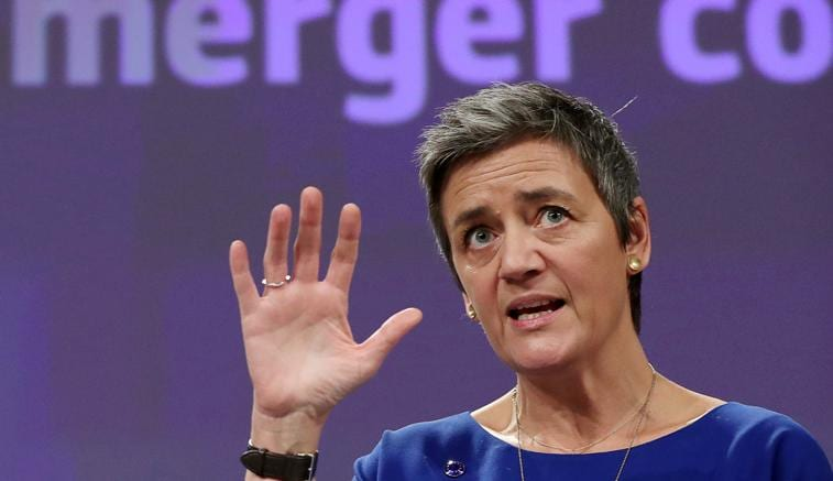 Margrethe Vestager , commissaria europea alla Concorrenza - REUTERS/Yves Herman