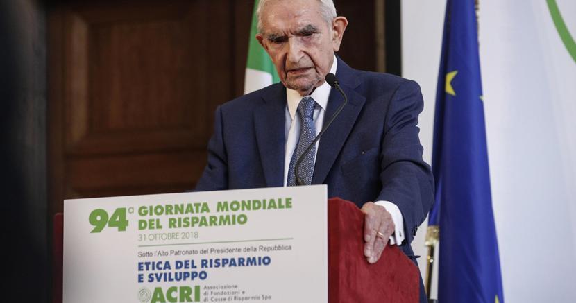 Giuseppe Guzetti, presidente dell'Acri, l'associazione delle Fondazioni e delle Casse di risparmio