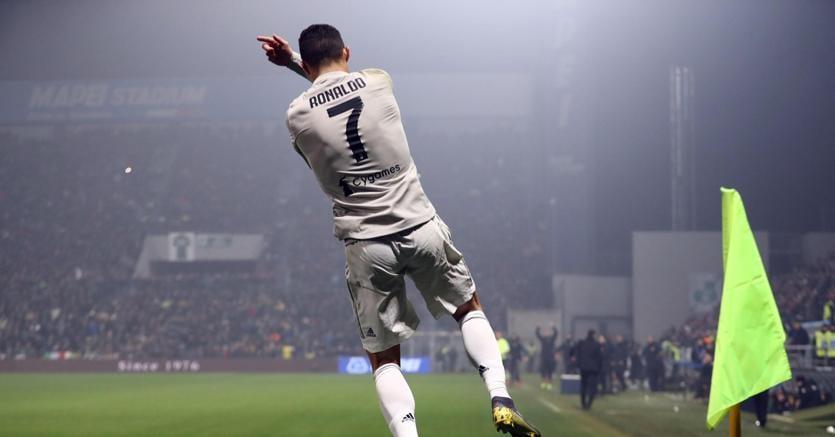 Un'esultanza di Cristiano Ronaldo (Ansa)