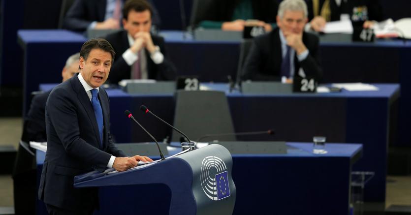 L'intervento del presidente del Consiglio Giuseppe Conte al Parlamento Ue