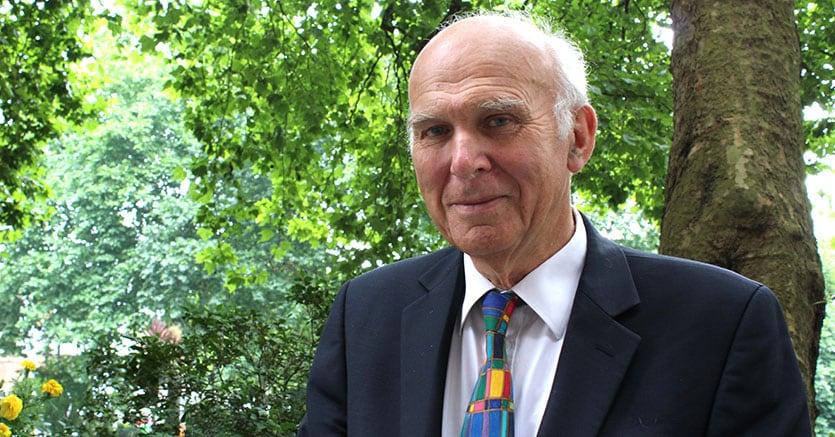 Vince Cable, 75 anni, leader liberaldemocratico ed ex ministro del Business