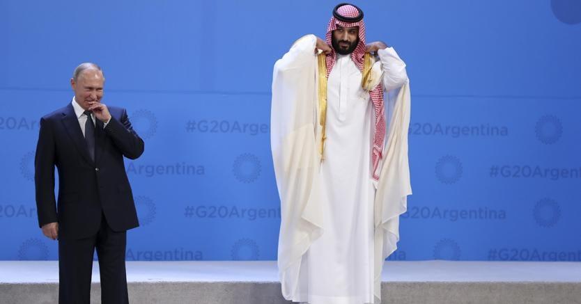 Vladimir Putin e Mohammed bin Salman  (Ansa/Ap)