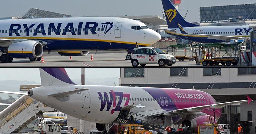 Sanzionate Ryanair e Wizz Air: policy sui bagagli a mano scorretta