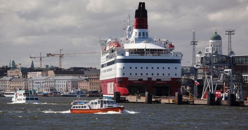 Il Porto di Helsinki, oggi tra i più affollati di Europa.