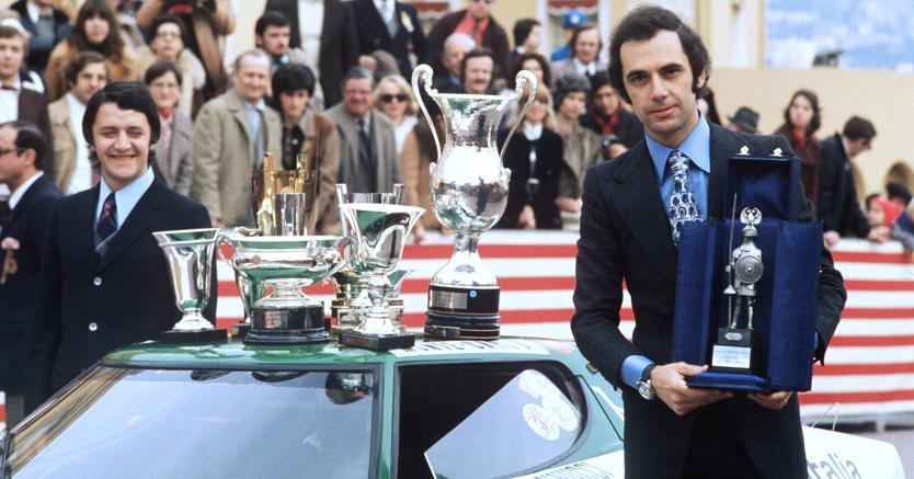 Sandro Munari e Mario Mannucci vincitori del Rally di Montecarlo del 1975 (Afp)