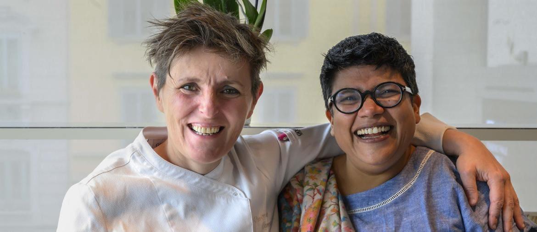 Viviana Varese con Ritu Dalmia