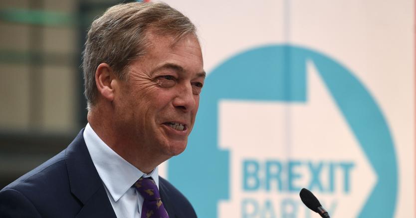 Nigel Farage alle europee con il Brexit Party
