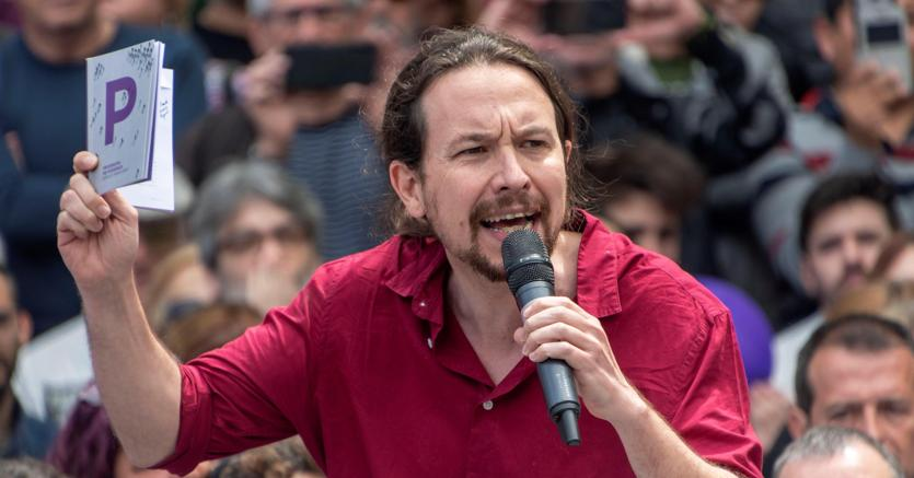 Il leader di Podemos, Pablo Iglesias (Epa)