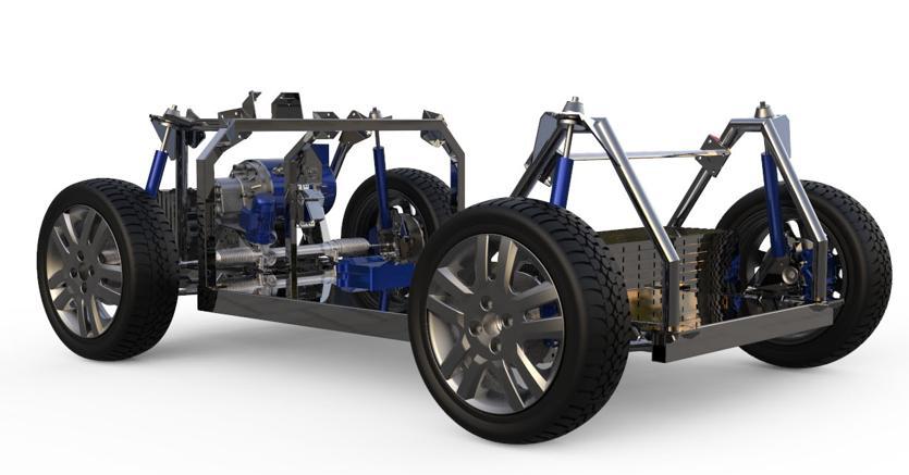Il telaio digitale per auto a guida autonoma di e-Shock