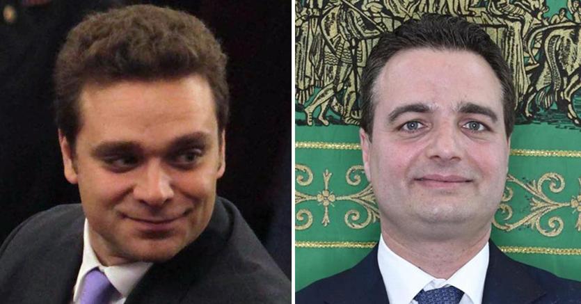 Pietro Tatarella, candidato alle elezioni europee per Forza Italia, e Fabio Altitonante, consigliere regionale della Lombardia per Forza Italia, entrambi coinvolti nell'inchiesta della Dda - Ansa
