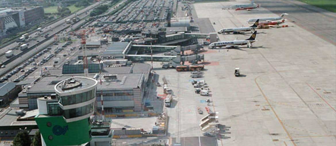 Veduta dell'aeroporto di Bergamo - Orio al Serio