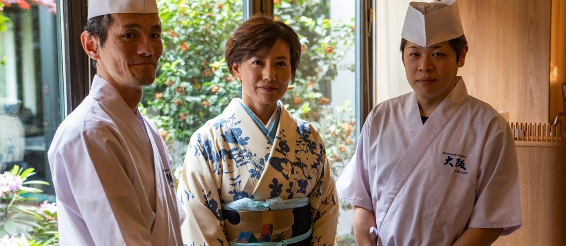 Chef -Ikeda-Naoko Aoki e Sous Chef Takimoto-Francesco Mion